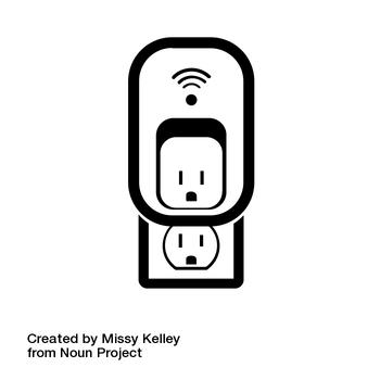 Smart Outlet by Missy Kelley from the Noun Project